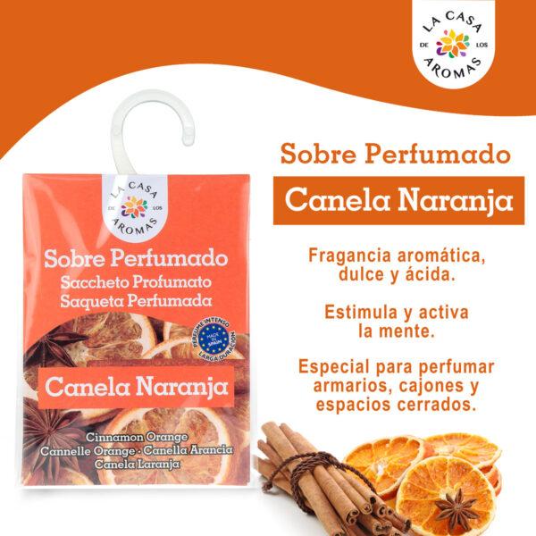 sobre perfumado canela naranja