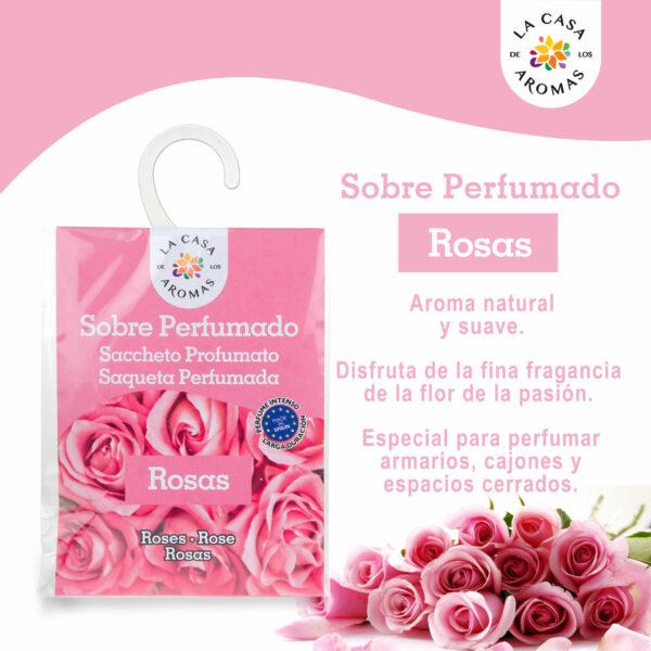 Sobre perfumado Rosas
