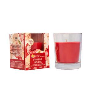 Vela vaso frutos rojos