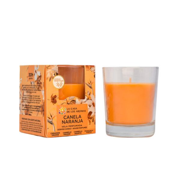 Vela canela naranja