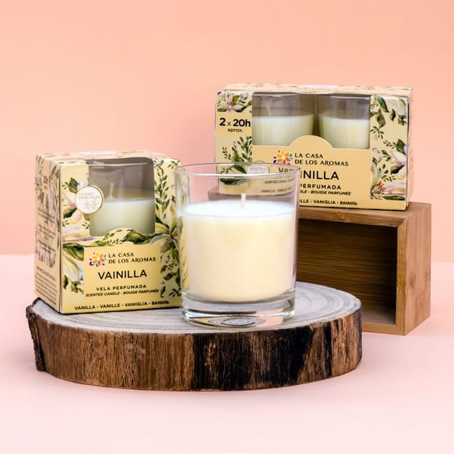 velas aromáticas de vainilla