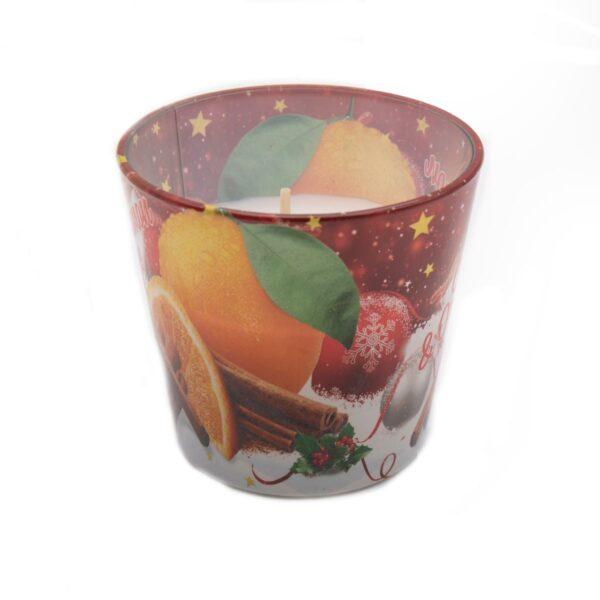 Vaso Vela Perfumada Manzana y Canela