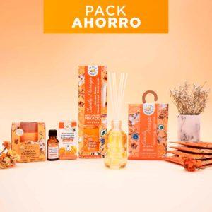 Pack ambientación canela naranja