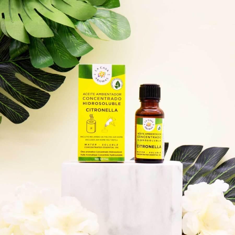 aceite esencial hidrosoluble de citronela