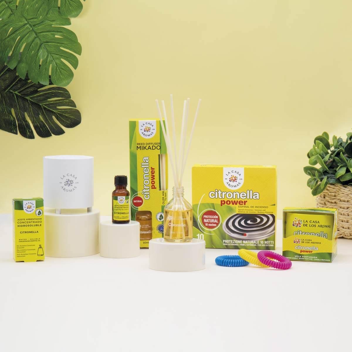 Productos de La casa de los aromas que contienen aceite esencial de citronela