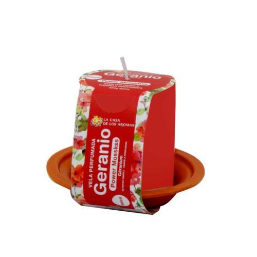 vela perfumada de geranio