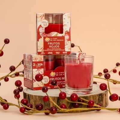 velas aromáticas de frutos rojos