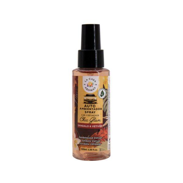 spray ambientador auto sandalo